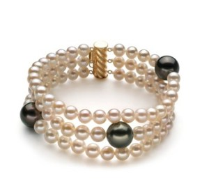 white and black pearl bracelet