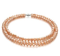 double pink pearl necklace