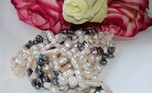 colored pearl necklace