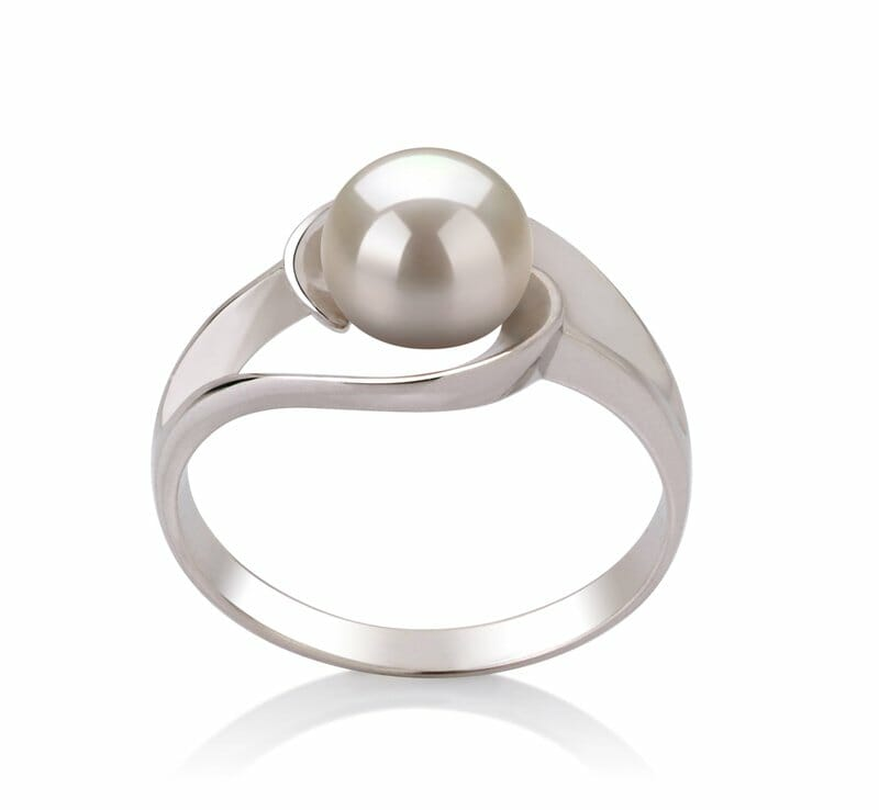 5bfa75986 They may be simple in design but are also graceful and elegant without any  hint of flashiness to them. Such white pearl rings have a subtle, quiet  look to ...