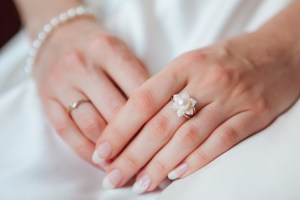 wedding pearl ring