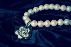 wearing pearls