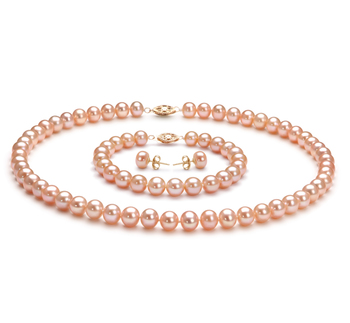 pink pearls set