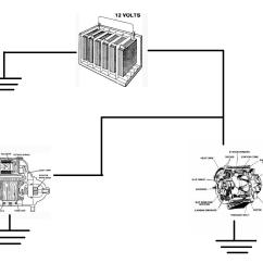 Simple Alternator Wiring Diagram Gibson 500t Starter