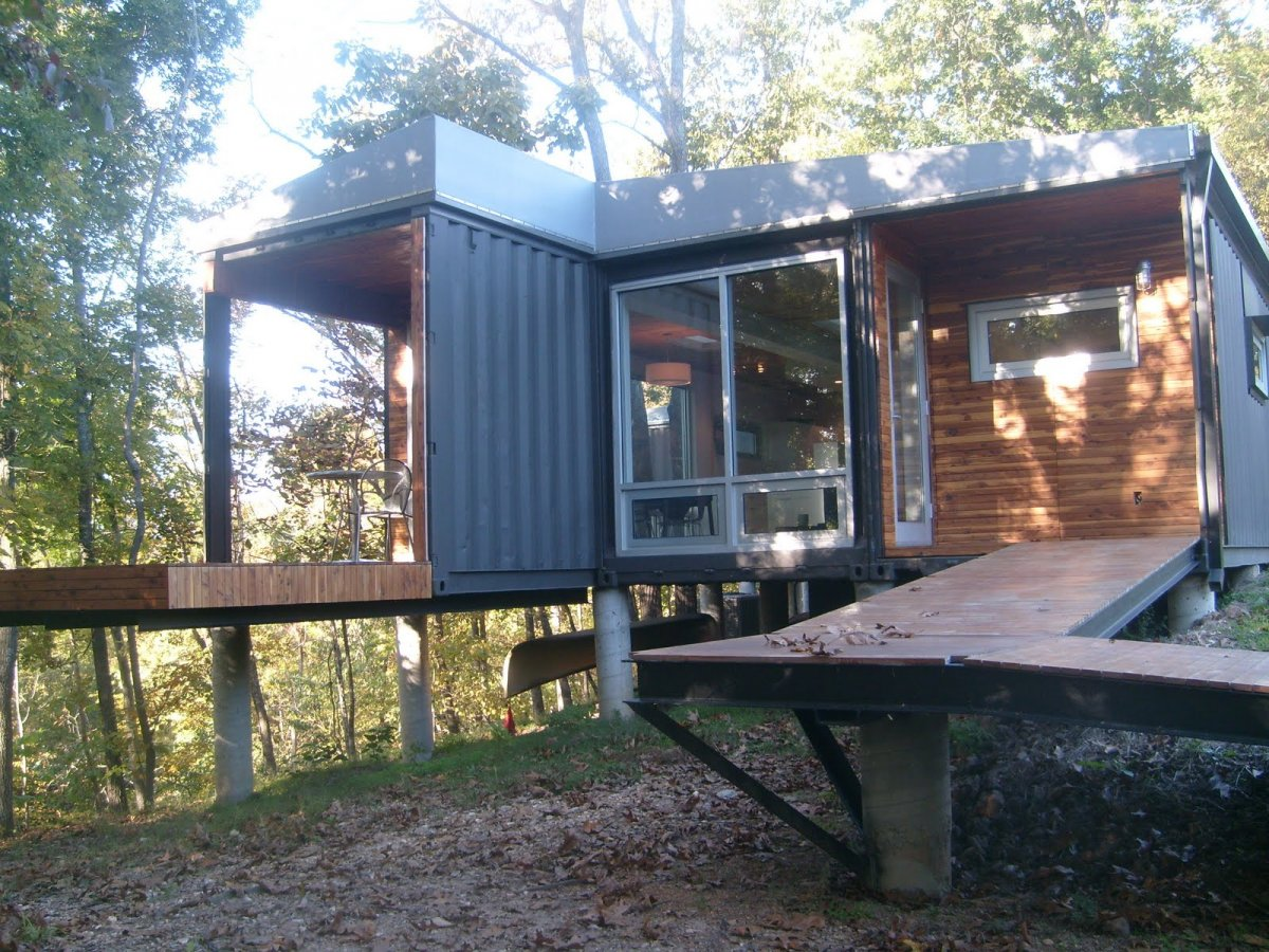 Exelent Shipping Container Homes The 8747 House With Porch Photo