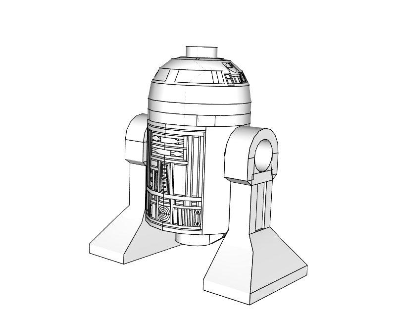 3d Printer Files Star Wars R2 D2 Dome