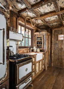 Rustic Log Cabin Kitchen Ideas