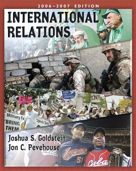 Goldstein  Pevehouse International Relations  Pearson