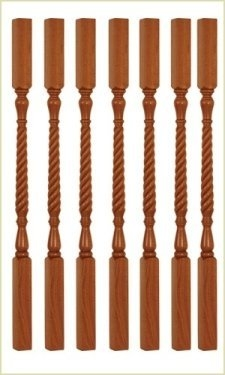 Wooden Stair Balusters Cast Iron Metal Staircase Baluster Uk   Barley Twist Stair Spindles   Antique   Square   Victorian   Provincial   41Mm