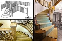 Curved Stairs, Wooden Curved Staircase Manufacturers ...