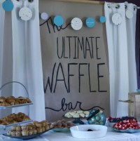Couples Shower Ideas: Waffle Bar