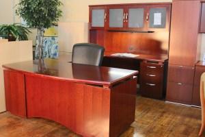 Bradford Series Medium Cherry Wood L Desk • Peartree ...