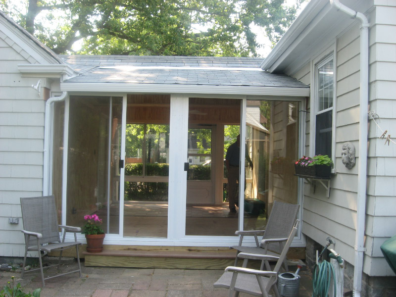 Sunroom BeforeAfter Pictures LFPease Company