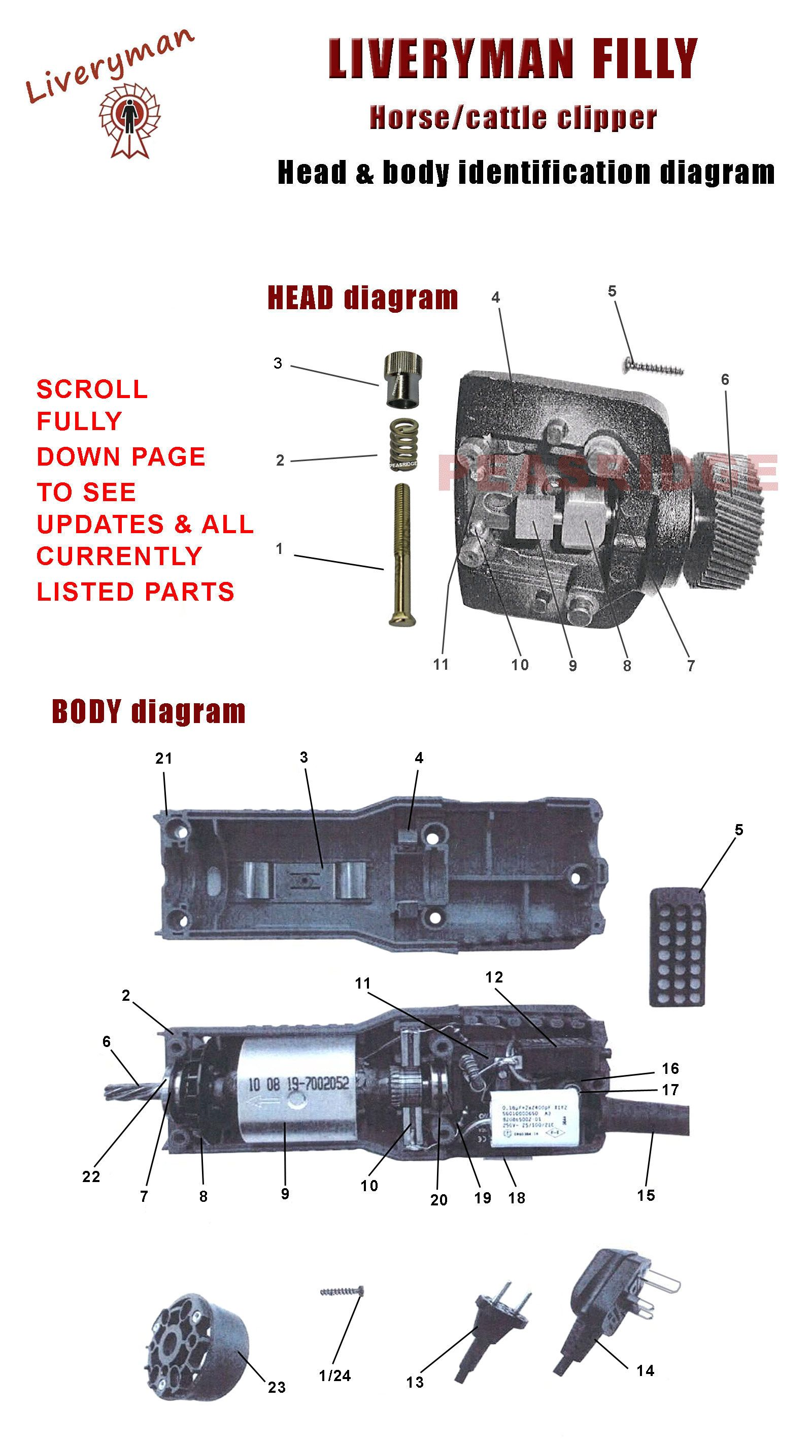 hight resolution of parts diagram
