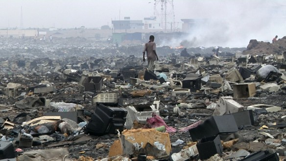 Electronic landfill in Ghana