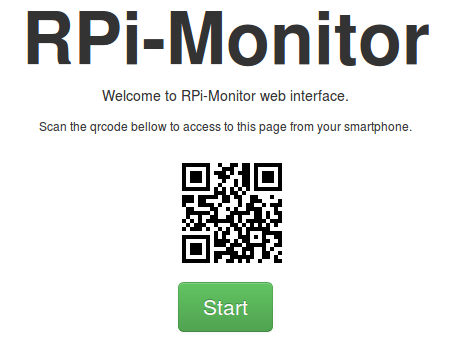 Accediendo al panel de RPI-Monitor