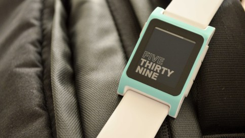 Pebble 2 Watchface Text Time Bold