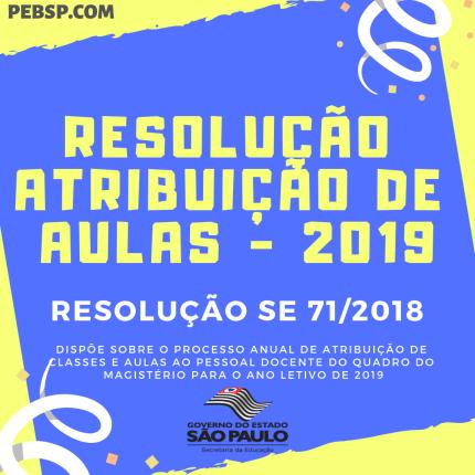 resolução atribuição de aulas 2019