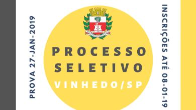Photo of Processo Seletivo para Professores em Vinhedo/SP – 2019