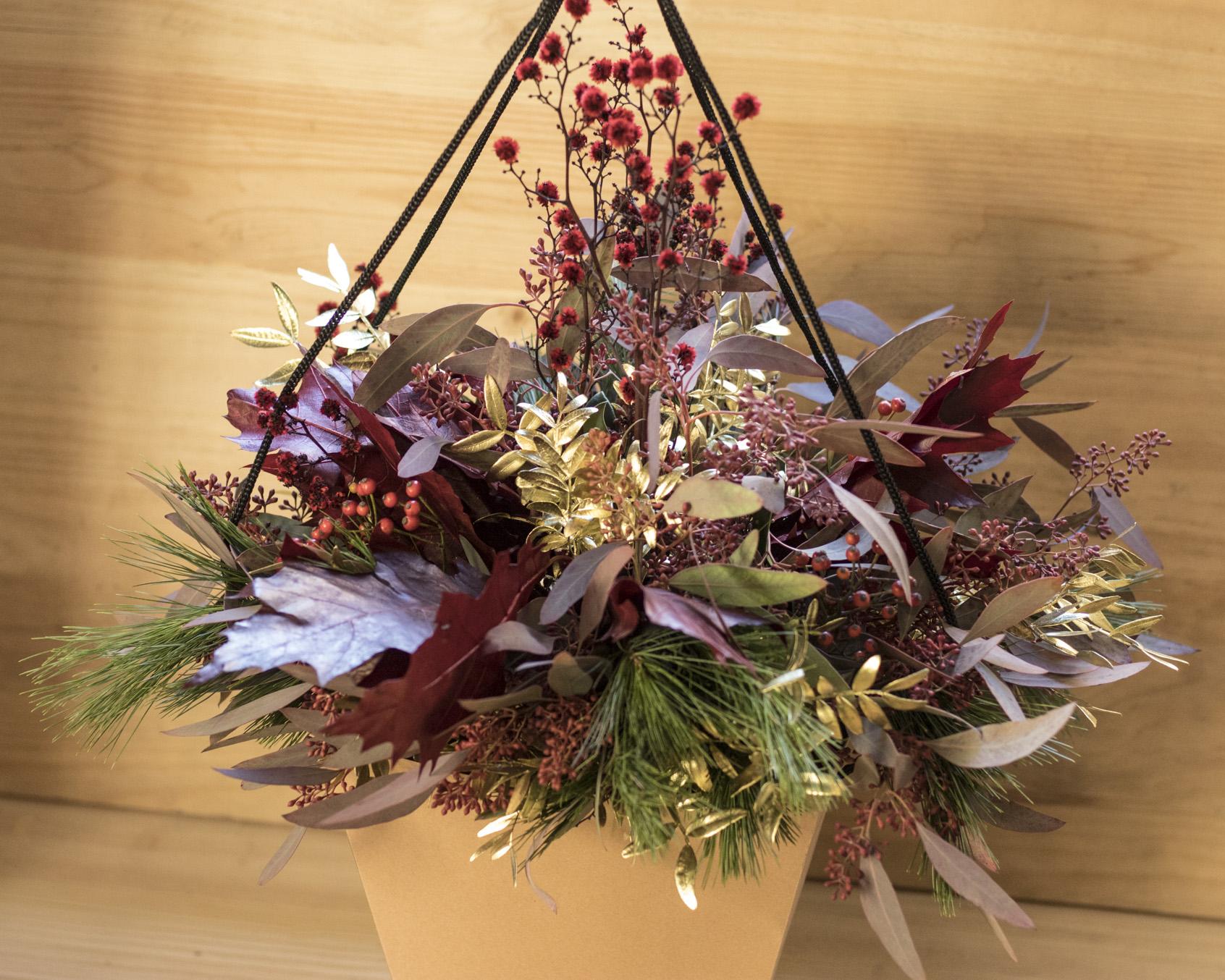 ramo verdes navidad con bolsa1