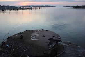 Overlooking Sag Harbor Cove.