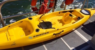 A kayak found adrift off the coast of North Kingstown, Rhode Island, which led to an extensive Coast Guard search in early August.