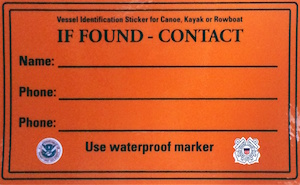 The Coat Guard recommends placing ID tags and phone numbers on all your personal watercraft to help determine if anyone is missing when the boats are found adrift.