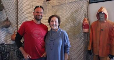 Photographer Chris Hamilton and EESM Chair Arlene Klein.