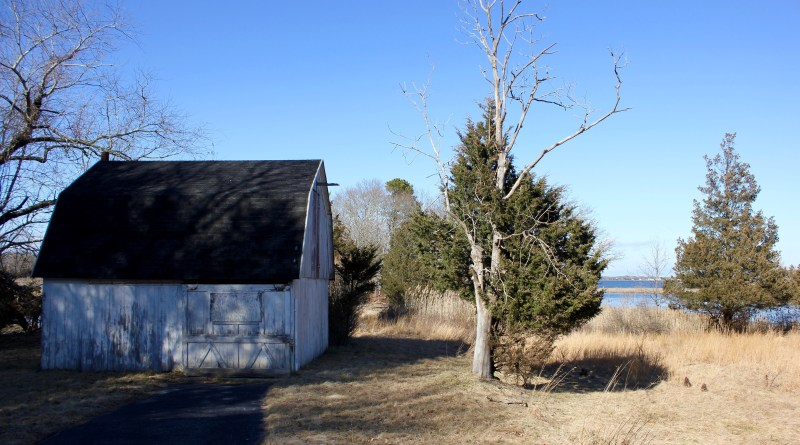The barn on Goodale Peninsula in Flanders, overlooking Reeves Bay.
