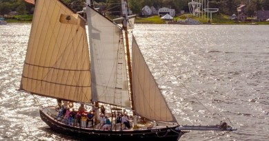 The Mary E under sail in Maine. |. Maine Maritime Museum Photo