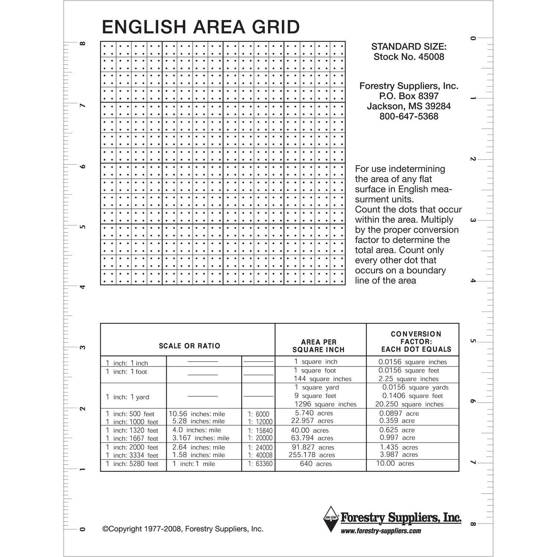 Jim Gem English Area Grid 7 X 9