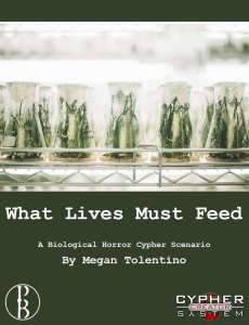 Cover of what lives must feed shows flasks of plants growing in a lab