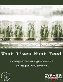 Cover of What lives must feed shows flasks growing green plants.