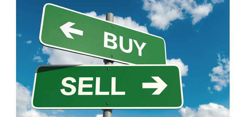 Buy sign and sell sign