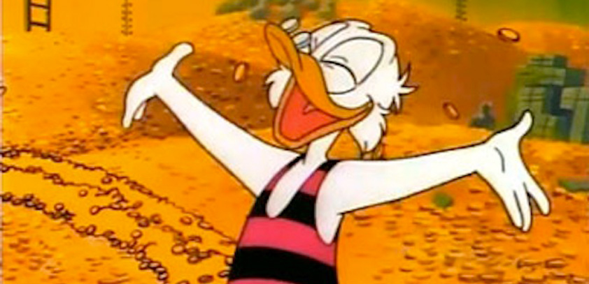 Scrooge McDuck's mountain of cash