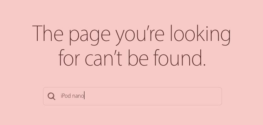 iPod nano not found