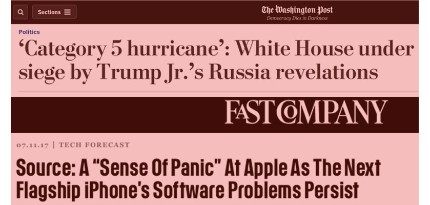 panic at apple, white house under siege
