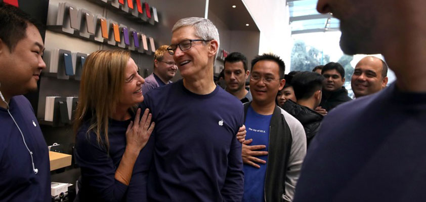 Apple was on track to create 50,000 U.S. jobs in 5 years