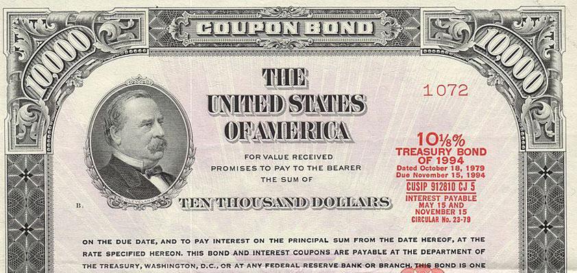 US Treasury note