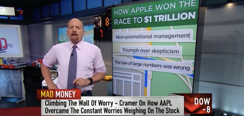 Trillion-dollar Apple: Cramer's 10 reasons it matters (video)