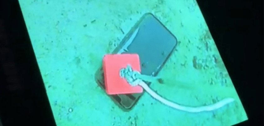 Another iPhone recovered from another frozen Canadian lake