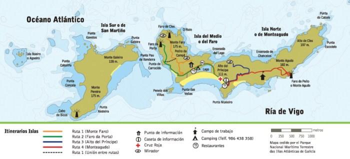 rutas senderismo islas cíes