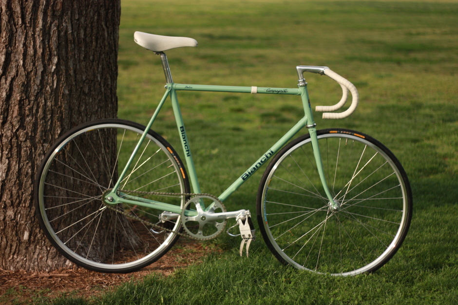 Vintage Bianchi Pista with some Botox  Pedal Room