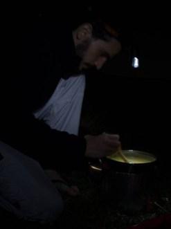 André testando a receita do Seu Fernando para uma Polenta rápida e fácil