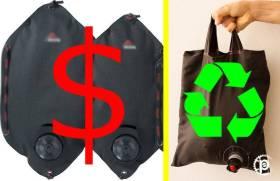Bolsa de água de baixo custo para camping