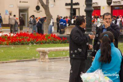 Festa da Primavera na Plaza de Armas em Trujillo