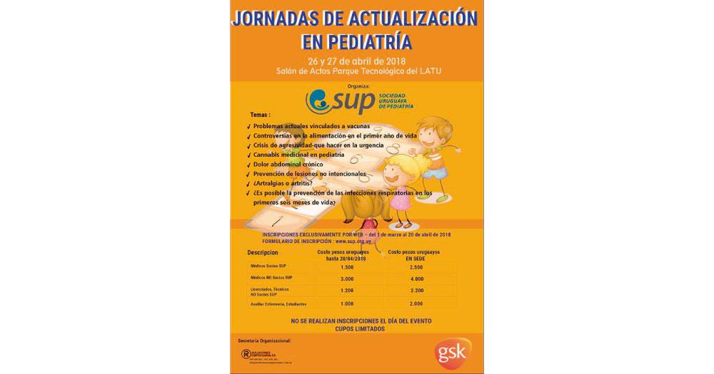 JORNADAS DE ACTUALIZACION EN PEDIATRIA, 26 Y 27 DE ABRIL 2018, MONTEVIDEO