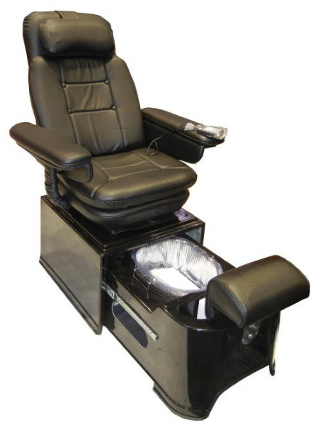 PIBBS PS92B Black Footsie Portable Pedicure Spa  Pedisource
