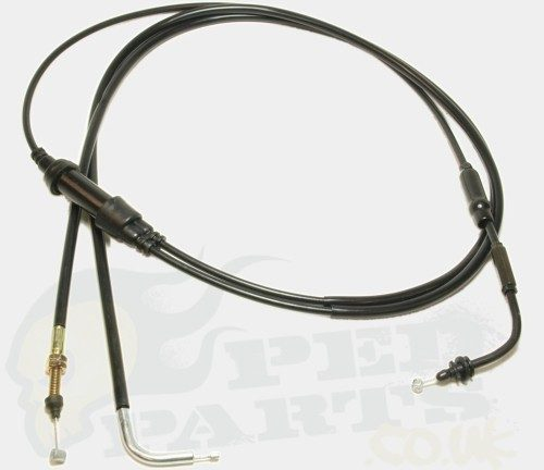 Peugeot Speedfight 50cc 3 Piece Throttle cable Set