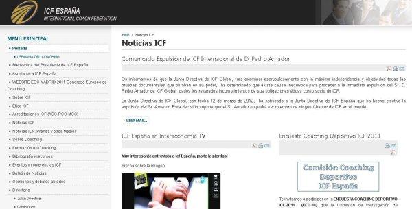ICF España - Incompetencia en el mundo del coaching